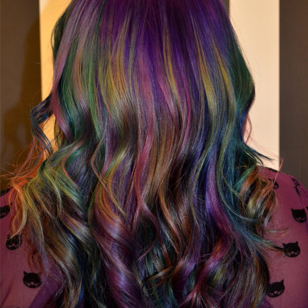 Hair Colors: How To Create Oil Slick Hair